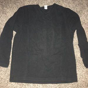 Black Long Sleeve T-shirt - XL